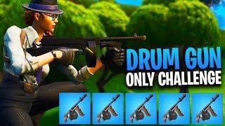 DRUM GUN *ONLY* CHALLENGE!! W NINJA, FEARITSELF & MADRUSKI   Fortnite Battle Royale