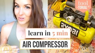 HOW TO USE AN AIR COMPRESSOR FOR BEGINNERS // air compressor with nail gun [TOOLtorial™]