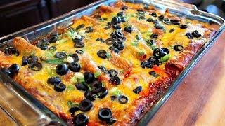 The Best Tex-Mex Style Red Enchiladas with Ground Beef Recipe