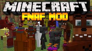 Minecraft EPIC FNAF MOD! | FIVE NIGHTS AT FREDDY'S! FOXY, MANGLE, PURPLE GUY! | Modded Minecraft