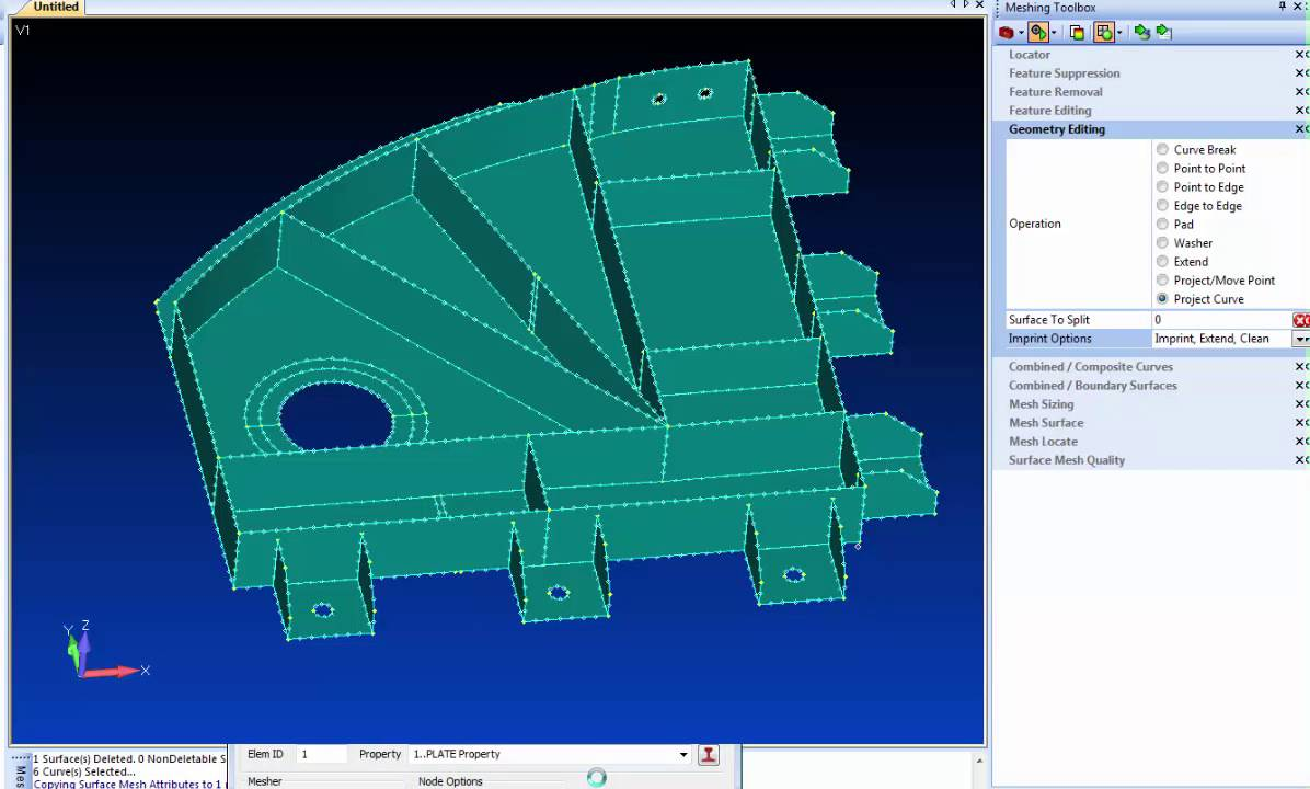 Femap 11 Geometry Editing - Part 3 Meshing