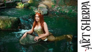 Fresh Water Mermaid Acrylic Tutorial Fantasy Painting Fairytale #1 | TheArtSherpa