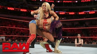 Sasha Banks & Bayley vs. Mandy Rose & Sonya Deville: Raw, March 19, 2018 - Video Youtube