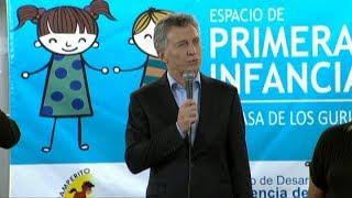 Macri inauguró un espacio de Primera Infancia