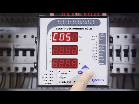 RG3-15 CLS Power Factor Controller Target Cosφ Setting
