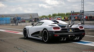 Koenigsegg Agera R on Track - Accelerations, Revs & Downshifts !