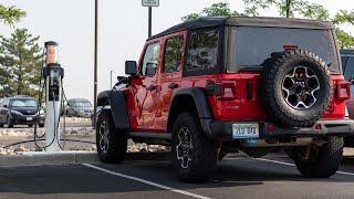 2021 Jeep Wrangler 4XE City Electric Range Test!