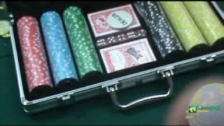 Maleta De Poker Luxo 300 Fichas Brilhantes Numeradas 11,5Gms