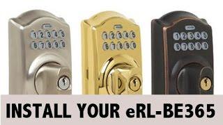 Install your eRL-BE365 Deadbolt Lock