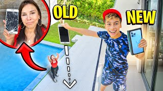 DESTROYING My Grandma's PHONE & SURPRISING Her with New iPHONE 13! (SHE CRIED)