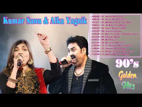 Kumar Sanu & Alka Yagnik Hit Songs   Romantic Hits 90s Hindi