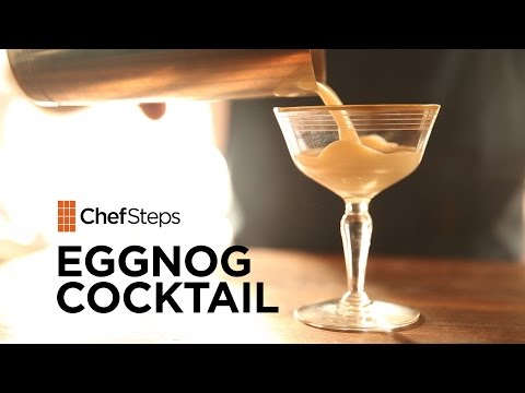 Video Egg Nog Cocktail