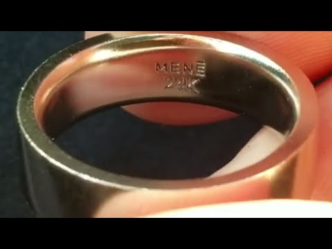 24K Pure Platinum Ring Unboxing From Mene
