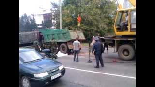 Жуткое ДТП в Чебоксарах: Камаз сбил пешехода