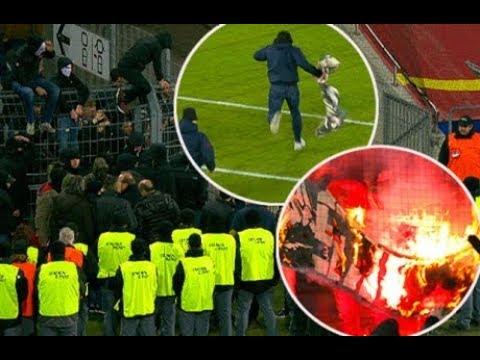 FCB-Fans klauen und verbrennen Sion-Fahne - 18.11.2017