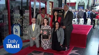 Anne Hathaway FINALLY receives star on Hollywood Walk of Fame