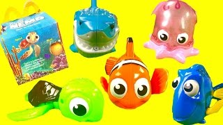 Finding Nemo McDonald's Happy Meal Toys! Dory Marlin Pearl Bath Squirters
