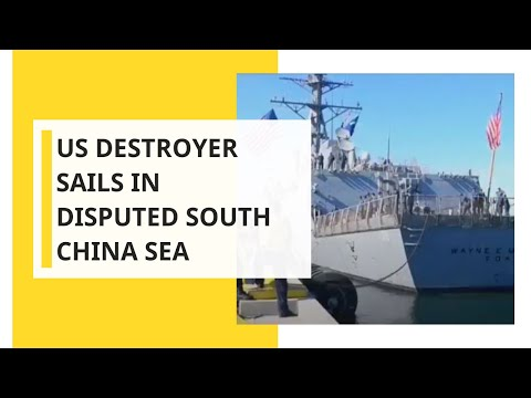 US destroyer sails in disputed South China Sea amid trade talks