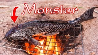 Survival skills: Cooking big fish eating delicious