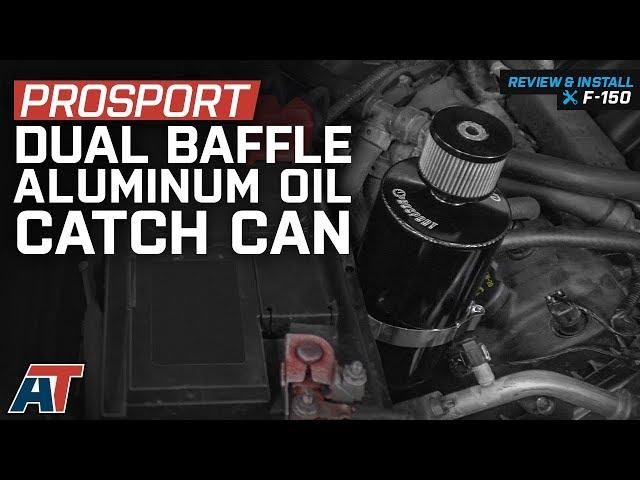 Prosport Dual Baffle Aluminum Oil Catch Can - Black (97-19 F-150)