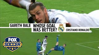 Which goal was better: Cristiano Ronaldo or Gareth Bale? | FOX SOCCER - Video Youtube