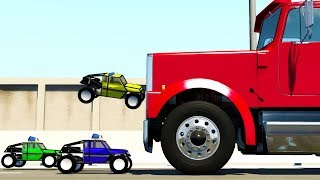 R/C POLICE TAKE DOWN SEMI TRUCKS! - BeamNG Drive R/C Car Chase