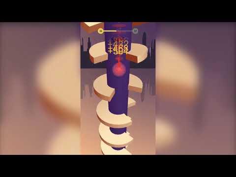 🥇 Helix jump iOS game play level 1124   Cheats MOD APK 2019