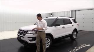 2017 Ford Explorer Base - Standard and Optional Equipment