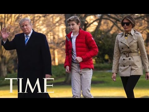 President Donald Trump's Youngest Son Barron Is Officially A Teenager | TIME