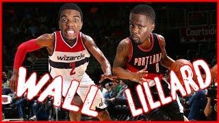 WHO'S BETTER? WALL OR LILLARD?! - NBA 2K16 Head to Head Blacktop Gameplay