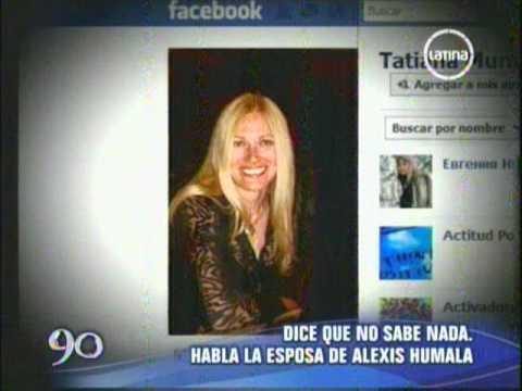 Tatiana Murashova desconocía viaje de su esposo Alexis Humala a Rusia