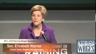 Elizabeth Warren kicks off 2015 calling out trickle-down economics in fiery AFL-CIO speech