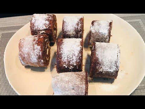 MOIST | SWISSROLL CHOCOLATE CAKE | ROLL CAKE.