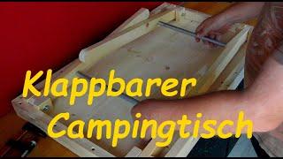 Campingtisch selbst gebaut für Schwiegersohn Teil 1