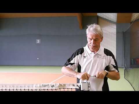 Schneller Tennisnetz-Aufbau mit Tennis-Tool universal