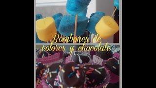 Bombones De Colores Y De Chocolate