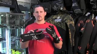 Рукавицыдля подводной охоты 5,5 мм Sargan black 3-палые Мечта пианиста от компании МагазинCalipso dive shop - видео