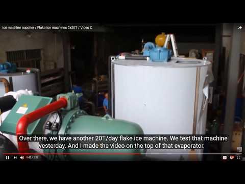 Máquina de hielo en escamas 20 toneladas C