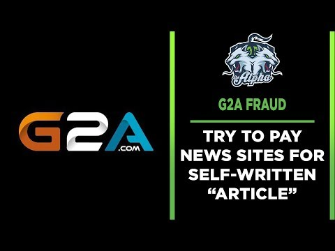 G2A tries to pay 10 sites for pre-written advertorial
