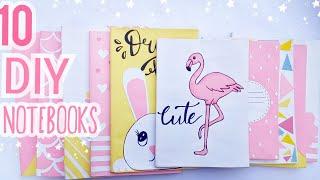10 Easy DIY Notebooks  For Back To School ! / Easy DIY School Supplies/ Chetana DIY.