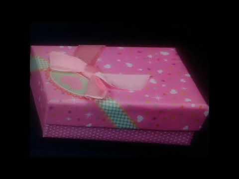 Banggood Ribbon Bowknot Heart Square Jewelry Box
