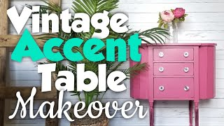 Vintage Accent Table Makeover