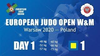 European Judo Open - Warsaw 2020 - Day 1 - Tatami 1