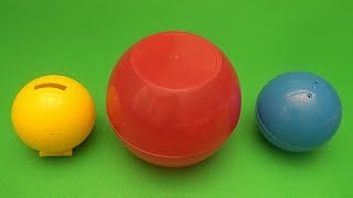 Big Mouth Academy Express! Surprise Toy Game! Which One is the Biggest!  Circles!