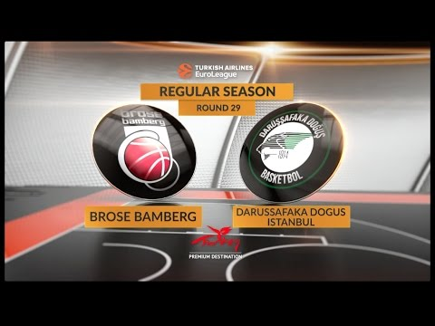 EuroLeague Highlights RS Round 29: Brose Bamberg 97-99 OT Darussafaka Dogus Istanbul