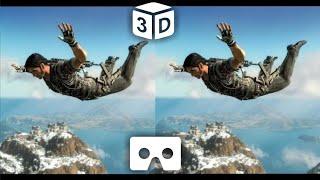 SkyDive VR Video 3D for VR Box Split Screen Virtual Reality 3D not 360 VR