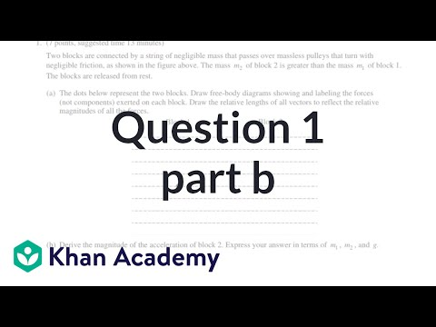 Question 1b: 2015 AP Physics 1 free response (video