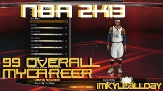 NBA 2K13 - How to Get 99 OVR MyCareer Before Rookie Showcase (ONLINE + NO USB)