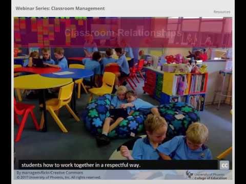 College of Education Webinar Series – Classroom Management