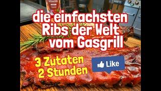 Die einfachsten Ribs der Welt vom Gasgrill - 2 Stunden, 3 Zutaten! -- Westmünsterland BBQ